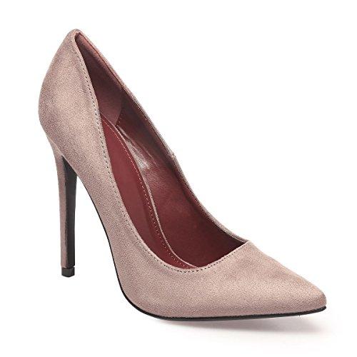 La Modeuse - Zapatos de Vestir de Material Sintético Mujer, marrón (marrón), 38 EU