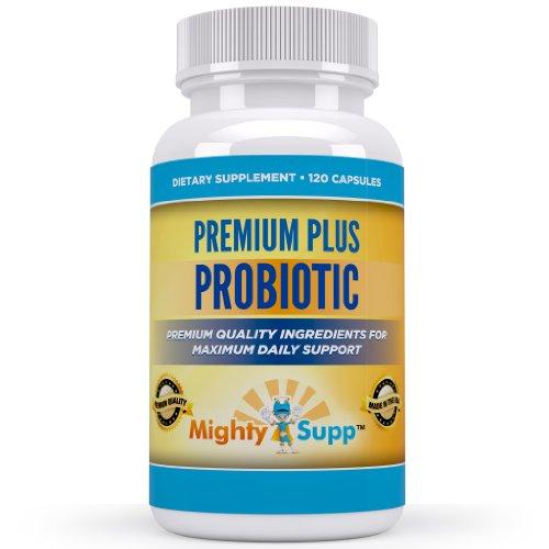 Probiotic - Meilleur supplément quotidien Probiotique pour le soulagement rapide de l'estomac ballonnement et l'inconfort du gaz - Ebook gratuit compris - parfait pour les hommes des femmes et des enfants - 120 Capsules - 6 milliards de bactéries Lactobac