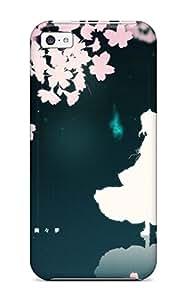 Durable Video Games Touhou Saigyouji Yuyukonime Girls Back Case/cover For Iphone 5c