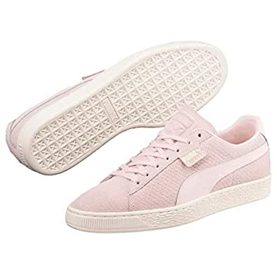 PUMA Women's Suede Classic PERFORATI WN's Trainers, Pink (Pearl-Whisper White), 6 US