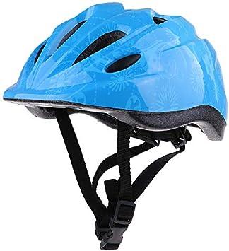 King Boutiques Equipo de Protección Infantil en Bicicleta de la Bicicleta Casco Vespa Seguridad Circunferencia de la Cabeza Ajustable Tamaño 49-59cm for el Ciclismo (Color : Type C Blue)