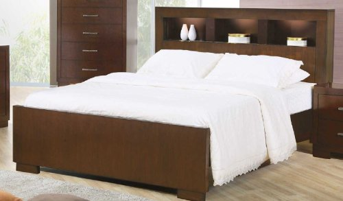Coaster 200719KE Jessica Cappuccino Queen Bed With Storage