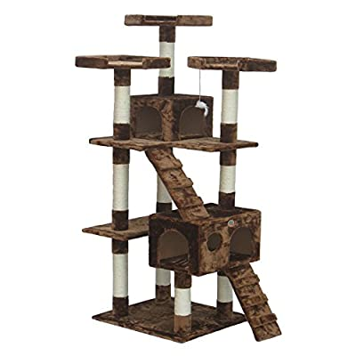 Go Pet Club Cat Tree Furniture 72 in. High Loft