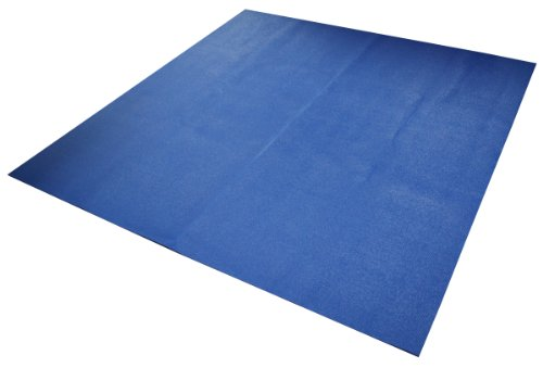 Yoga Direct 6-Feet Square Yoga Mat, Blue