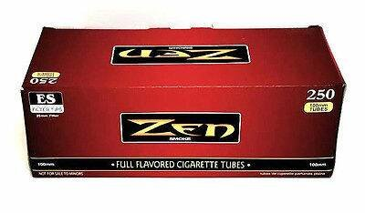 Zen 100MM Size Cigarette Full Flavor Tubes Box 250 ct Filter Tubes Red Wholesale - Tube Red Filter