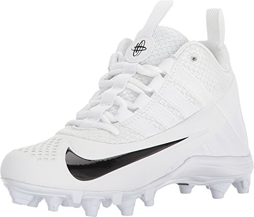 NIKE Youngsters' Alpha Huarache 6 Lacrosse Cleats (four.5, White/Black) – DiZiSports Store