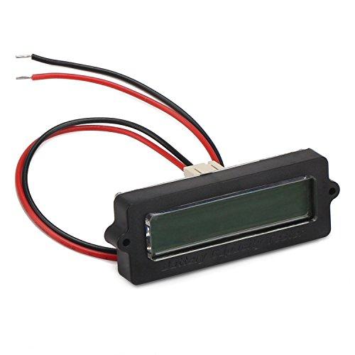 DROK Battery Meter, Blue Back-Light LCD Battery Capacity Monitor DC 8-63V Digital Battery Tester Automotive, Lithium ion Battery Electric Quantity Detector 12V 24V 36V 48V Lead Acid Battery Status by DROK (Image #1)