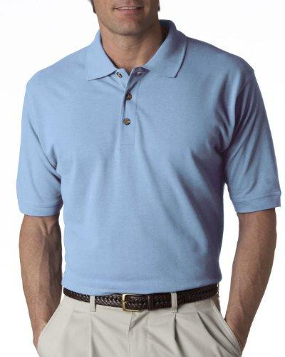 8535 UltraClub Men's Classic Piqué Polo (Baby Blue) ()