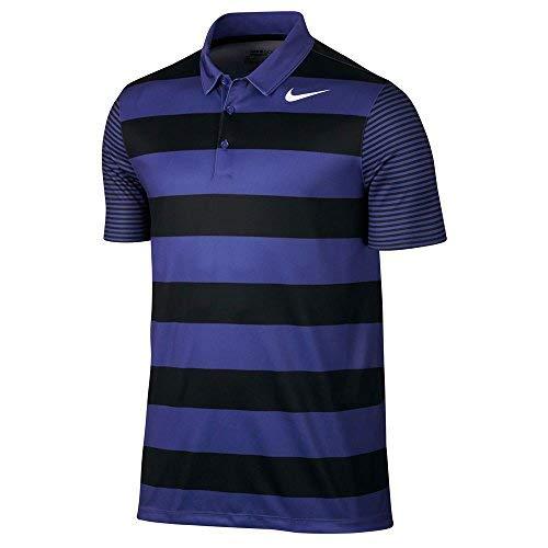 Nike Men's Dry Bold Stripe Golf Polo (Deep Night/White, Small)