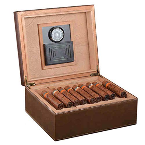 $149.80 cuban crafters humidor Cedar Cigar Humidor, Sealed Insect-Proof Large-Capacity Thermostat Cigar Box Cuban Cigar Smoking Set 2019