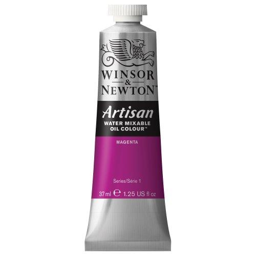 Magenta Water - Winsor & Newton 1514380 Artisan H20 MIXABLE Oils 37ML. Magenta 37-ml Tube