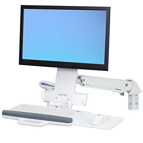SV Combo ARM NO WS Bright White by Ergotron