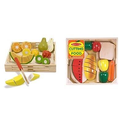 Melissa & Doug Cutting Food and Cutting Fruit Bundle: Toys & Games