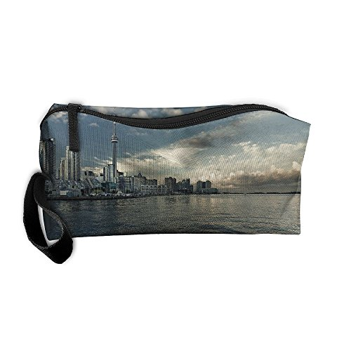 Portable Travel Storage Bags CN Tower Clutch Wallets