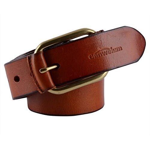 Canwelum - Cinturones hombre de grano completo 906d871d1fb