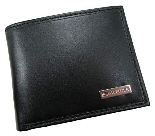 Tommy Hilfiger Leather Men's Wallet RFID Billfold With Coin Pocket