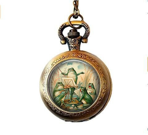 chestra in Pond Pocket Watch Necklace ()