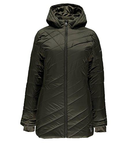 Spyder Women's Siren Long Jacket, Olive, Small
