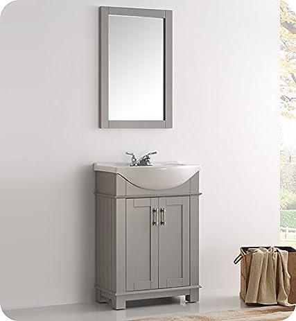 Fresca FVN2302GR CMB Hartford 24u0026quot; Gray Traditional Bathroom Vanity