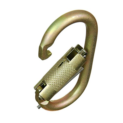 Fusion Climb Ovatti Military Tactical Edition Steel Auto Lock Oval Symmetrical Anchor Carabiner with Captive Eye Pin Gold by Fusion Climb (Image #5)