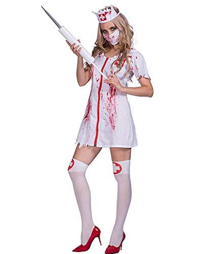 NQBRNG Halloween Killer Caregiver Adult Zombie Bloody Nurse