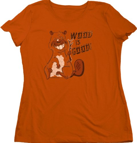Ann Arbor T-shirt Co. Women's WOOD IS GOOD T-shirt