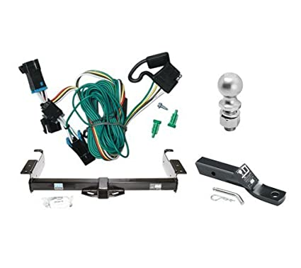 2 Pack 2 Receiver, 4-Way Flat, 2 Trailer Ball Curt Manufacturing 99301 Class 3 Hitch Kit and Wiring Harness