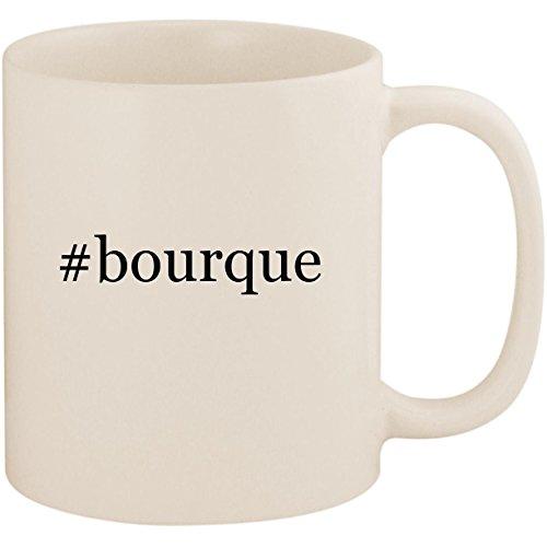 #bourque - 11oz Ceramic Coffee Mug Cup, White