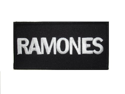 Ramones Metal (Licensed RAMONES Iron On Patch Fabric Applique Motif Rock Band Punk Metal 3.9 x 1.9 inches (9.8 x 5 cm)-Collectible Decal)