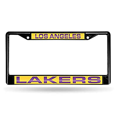 NBA Rico Industries Laser Cut Inlaid Standard Chrome License Plate Frame, Los Angeles Lakers: Sports & Outdoors