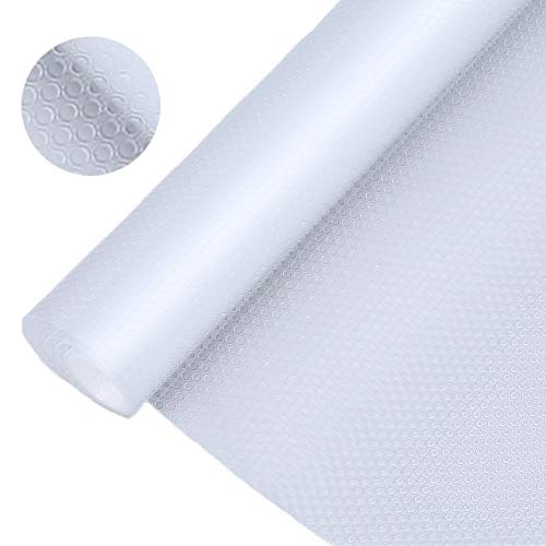 Bloss Plastic Shelf and Drawer Liner,Non Adhesive Waterproof roll(17.7