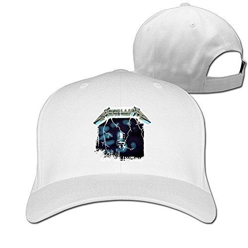 ride-the-lightning-studio-album-metallica-unisex-sports-summer-baseball-caps-white