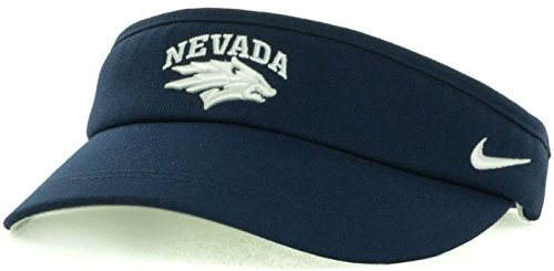Nike Nevada Wolf Pack NCAA Sideline Dri-Fit Adjustable Coaches Cap Hat Visor (Adjustable, Navy Blue)