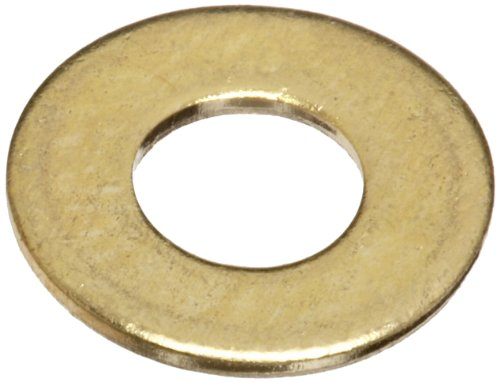 Brass Flat Washer, Plain Finish, No. 6 Screw Size, 0.14