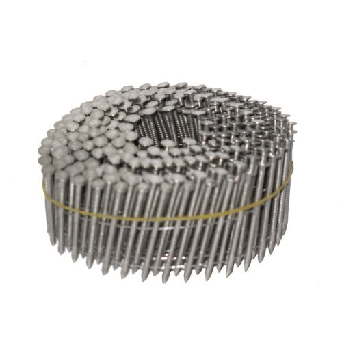 NailPro 1-3/4 Inch by 0.093 - Ring Shank Siding Nail - 15 Degree Wire Coil - Stainless Steel - 3600 pc. / CTN Coil Nails Ring Shank