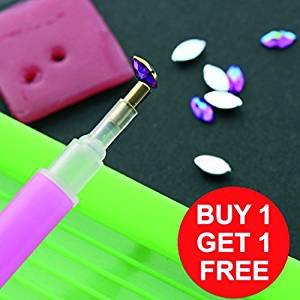 1pc Rhinestone Gem Picker Dotting Pen Manicure Nail Art Tool BOGOF Rubys