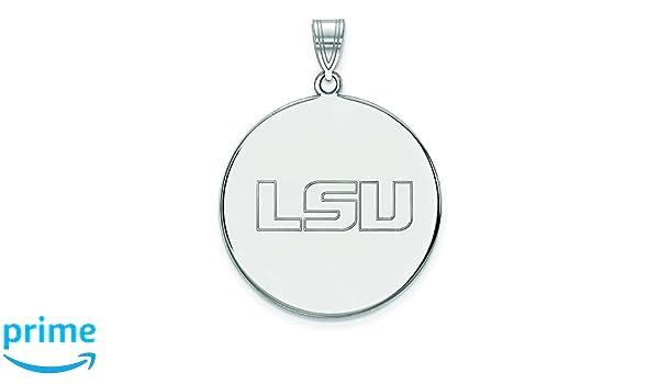 Sterling Silver Louisiana State University X-Large Disc Pendant by LogoArt