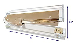 Acrylic & Gold Stapler by OfficeGoods - A Classic Modern Design to Brighten Up Your Desk – Elegant Office Desk Accessory