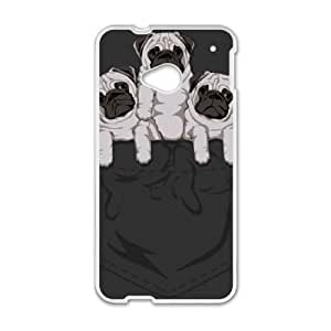 pocket pug HTC One M7 Cell Phone Case White DIY Gift xxy002_0362772