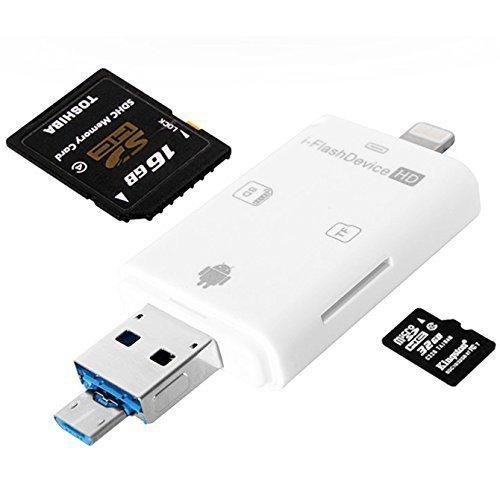 iNassen Multiple SD Card reader, Lightning USB OTG SDHC Micro SD Card...