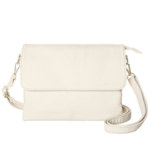 Beige Cell Phone - MINICAT Women RFID Blocking Small Crossbody Bags Credit Card Slots Cell Phone Purse Wallet(Beige-Large)