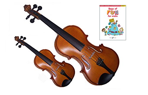 Mommy & Me Violin 2 Pack (4/4 & 1/8 Size) - Teach Your Child Violin (4-6 Yr Old)