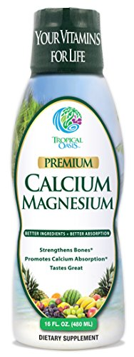 Tropical Oasis Liquid Calcium & Magnesium - Natural formula w/ support for strong bones - Liquid vitamins w/ calcium, magnesium & vitamin D - Up to 96% absorption by the body. - 16oz, 32 Serv. ()