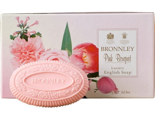 Bronnley Box of 3 x 100g Tablet Soaps Pink Bouquet by Bronnley (Bronnley Box)