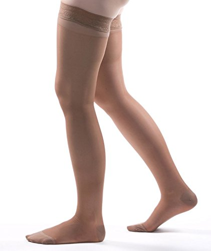 Allegro 15-20 mmHg Essential 4 Sheer Support Thigh High Compression Hose