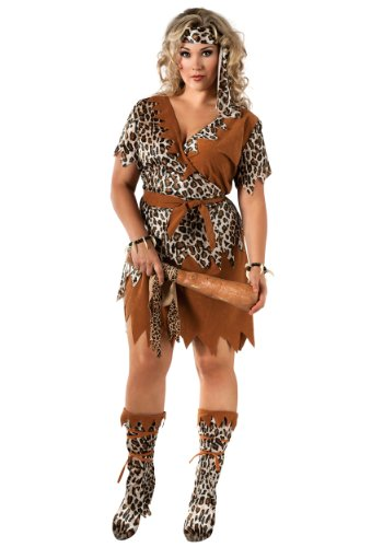 Rubie's Costume Co Women's Cavewoman Costume, Multi, Plus (Caveman And Woman Costumes)