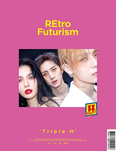 Cube Entertainment TRIPLE H (HYUNA & Hui E'Dawn of PENTAGON) - REtro Futurism (2nd Mini Album) CD+Booklet+Photo Lyrics+Sticker+Photocard+Folded Poster