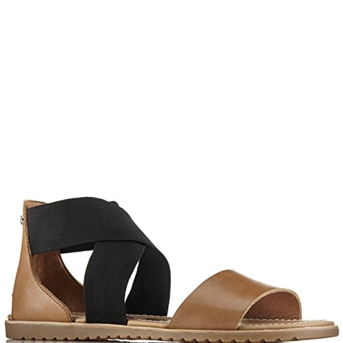 SOREL Womens Ella Slip-on Sandal, Ulti-Camel Brown, 10 B(M) US