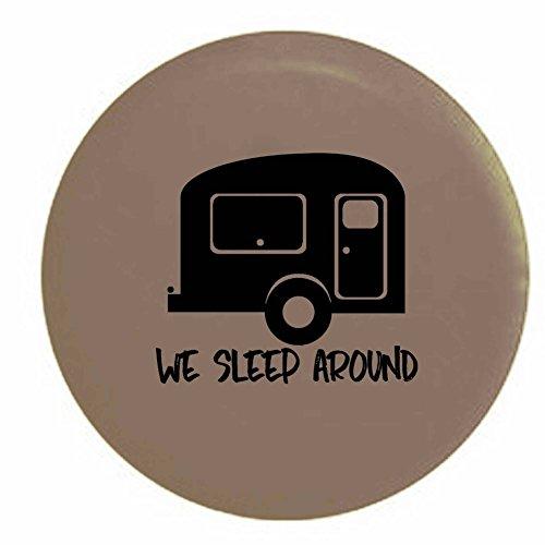Pike Outdoors We Sleep Around Travel Trailer RV Camper Spare Tire Cover OEM Vinyl Tan 29 -