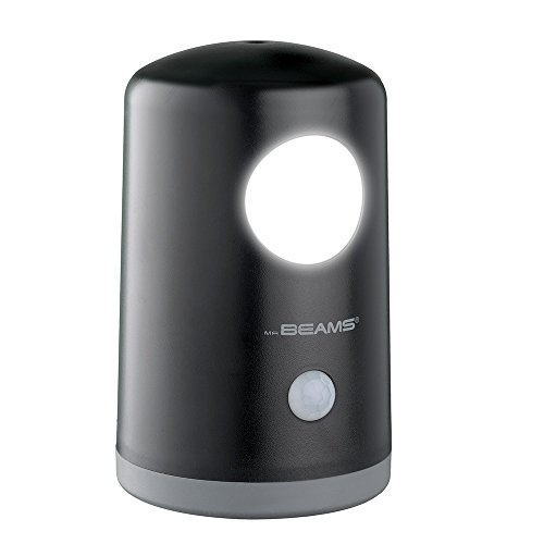 Mr. Beams MB750-BLK-01-00 MB750 Wireless Battery-Operated Portable Motion-Sensing 20 Lumen LED Nightlight/Table Light, Black
